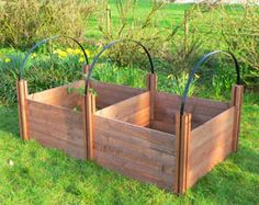 Raised-bed mini-hoophouse - nice that it's flexible for pest and/or frost protection, extending growing season
