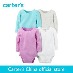 >> Click to Buy << Carter's 4 pcs baby children kids Long-Sleeve Bodysuits 126G337, sold by Carter's China official store #Affiliate