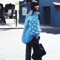 #mulpix 🖤 Just can't stop sharing those chunky streetstyles || Aegean Blue via beautiful @_h2w_ 🖤  #handmade  #fashion  #knit  #knitwear  #oversize  #fluffy  #cardigan  #blue  #style  #stylish  #styleblogger  #fashionista  #fashionblogger  #streetstyle  #streetfashion  #unique  #statement  #stunning  #shop  #theoriginal  #mumshandmade