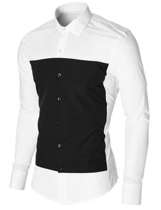 Mens casual dress shirt slim fit long sleeve white - Best Fashions for All Casual Button Down Shirts, Casual Shirts, Stylish Shirts, Gents Shirts, Cool Shirts For Men, Stylish Mens Fashion, Mens Clothing Styles, Trendy Clothing, Menswear