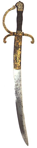 Henry VIII's sword in the Royal Collection at Windsor Castle.    Lara E.Eakins.