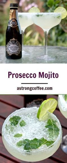 \If you love Mojitos and love Prosecco then this Prosecco Mojito cocktail is for you! Easy to make and tastes great on a summers evening (best mojito recipe) Prosecco Cocktails, Easy Cocktails, Summer Cocktails, Popular Cocktails, Vodka Martini, Classic Cocktails, How To Make Cocktails, Mexican Cocktails, New Years Cocktails