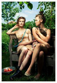 Ester and Greta by Jakub Hauskrecht Environmental Portraits, Bikinis, Swimwear, Hair Makeup, Photography, Fashion, Moda, One Piece Swimsuits, Fotografie