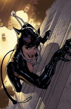 An Arkham Asylum like version of Catwoman. Something about the smirk on her face conveys much about her personality.