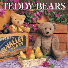"Teddy Bears 2016 Wall Calendar | $14.99 | More than just a toy, teddy bears have been a source of comfort and joy to children and adults alike. Enjoy this beautiful calendar ""stuffed"" full of adorable, huggable teddy bears. For the bear lover or collector, these classic timeless toys are sure to brighten every day."