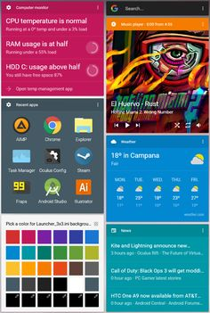 Google Now for Rainmeter v0.8.1 by SantiagoLP98.deviantart.com on @DeviantArt