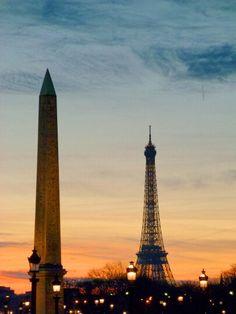 Presente dos egípcios. #obeliscodeluxor #torreeiffel #paris