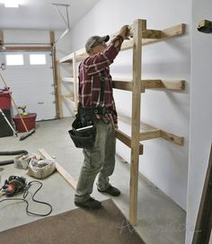 garage storage w keg connectors. Lumber and plywood