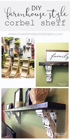 Osborne Wood Corbel shelf - find out step-by-step how you can create this awesome decorative shelf for any room in your house! It looks great and adds so much to the room! -- woodworking, diy shelf, corbel shelf, corbels, farmhouse style, farmhouse design, farmhouse decor, home decor, diy decor, simple home decor