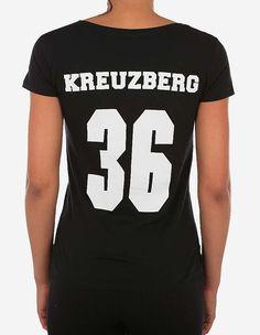 Depot2 Berlin - Original Kreuzberg 36 Girl T-Shirt black white