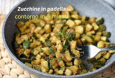 zucchine gratinate in padella