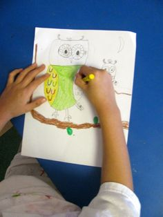 Teach How to Draw Gorgeous Owls in Grade One | Art Lessons For Kids