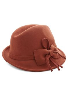 Happily Ember After Hat. For a warm and wonderful end to a relaxing Saturday, post up by the bonfire in this rust-orange hat. #orange #modcloth