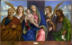 Madonna and Child with Saints  Giovanni Bellini and Workshop