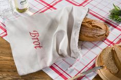 Halbleinen Brotsack 54x41 cm Napkins, Tableware, Bread, Dinnerware, Towels, Dishes, Napkin, Place Settings