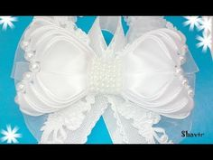 Бантик из ленты Канзаши DIY Kanzashi bow of ribbon Curva da fita Baugen av bånd 4 - YouTube