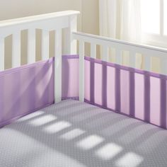 Breathable Mesh Crib Liner By Baby Lavender For When She Gets Bigger And