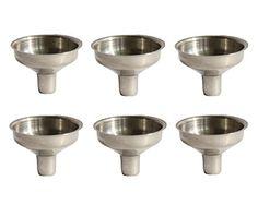 $1.89 - 6 pack Stainless Steel Mini Funnel for Essential Oil Bottles