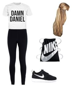"""""""School"""" by ava-ristau on Polyvore featuring NIKE and France Luxe"""