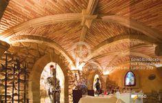 Gastronomie mit Gewölbedecke - MSD-Steinpaneel Ladrillo multicolor - 00675