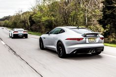 America versus England, part II: The F-Type easily held its own against America's sports car on winding backroads.