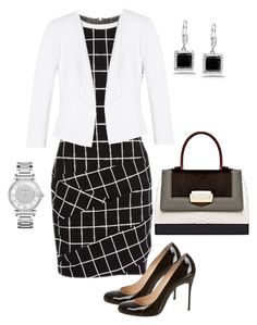 Untitled #481 by angela-vitello on Polyvore featuring White House Black Market, Christian Louboutin, The Volon, Kobelli and Michael Kors