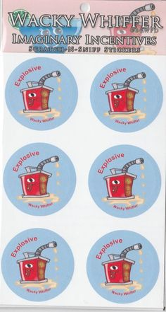 Wacky Whiffer Scratch and Sniff Stickers Gasoline Scented! ITM#SII039E3 #WackyWhiffer #ScratchSniff