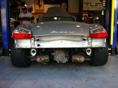 Boxster 986 with bumper + silencer removed Boxster S, Porsche Boxster, Porsche 356, Porsche Models, Porsche Cars, Vintage Porsche, Vintage Cars, Cayman S, Sport Cars