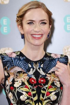 Hair Updos: The Easy-To-Copy Styles From The Red Carpet - Emily Blunt With A Swept-Back Awards Season Updo from InStyle.com