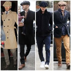 Baker Boy Hat Men, Outfits With Hats, Casual Outfits, Urban Fashion, Mens Fashion, Style Fashion, David Beckham Style, Stylish Boys, Gentleman Style