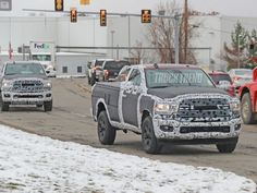 Stoking our flames of anticipation are spy photos of the Ram big brother, the Heavy Duty, due for the 2020 model year and sporting modern bodywork. Ram Trucks, Dodge Trucks, 2019 Ram 1500, Murdered Out, Dodge Dakota, Spy, Dodge Rams