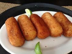 Yucca fried stuffed with Picadillo at David's cafe restaurant in Miami beach. http://www.miamiculinarytours.com/tour/little-havana-food-tour/