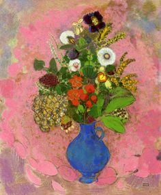 transistoradio:  Odilon Redon, Flowers (1905), pastel on paper, 47 x 58.4cm. Via WikiPaintings.