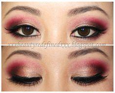 Red Eyes/ Grey Lips Makeup Look