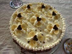 Sugarprincess: Banana Split Torte - traumhaft raffinierte Biskuittorte mit Schokoladen-Mascarpone-Creme und Vanille-Sahne-Creme
