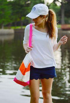 baseball cap in a cute way!