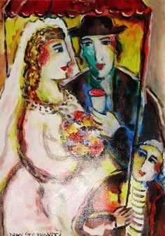Wedding Reception by Zamy Steynovitz, Original Painting, Oil on Canvas