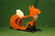 Handcrafted Hand Painted wooden Fox Bank. by DWSudekum on Etsy