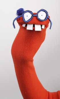 """Harold Speculex Sock Puppet from cutoutandkeep.net; check out all the """"plushies & friends"""" - personal use only"""