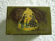 Vintage Green Metal Recipe File Box Victorian Decal by PeggysTrove, $15.00
