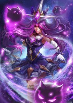 League of Legends - Star Guardian Syndra Lol League Of Legends, League Of Legends Characters, Fantasy Warrior, Fantasy Girl, Ahri Star Guardian, Character Art, Character Design, Lol Champions, Legend Images