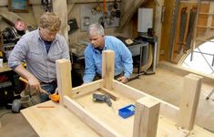 Ask This Old House general contractor Tom Silva and host Kevin O& create a popular type of coffee table out of reclaimed oak wood Build A Coffee Table, Build A Farmhouse Table, Oak Coffee Table, Outdoor Coffee Tables, Rustic Coffee Tables, Woodworking Tool Kit, Cool Woodworking Projects, Woodworking Supplies, Woodworking Mallet