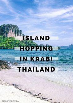 Perogy and Panda Guide to Island Hopping in Krabi, Thailand Thailand Destinations, Thailand Travel Guide, Asia Travel, Travel Destinations, Backpacking Thailand, Thailand Vacation, Italy Vacation, Lanai Island, Island Beach