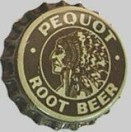 Pequot Root Beer, soda bottle cap | Pequot Spring Water Co., New London, Connecticut USA | cap used 1930-1940