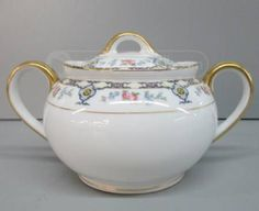 Noritake Porcelain Sugar Bowl