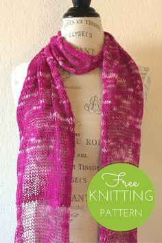 Fusilli Scarf Free Knitting Pattern