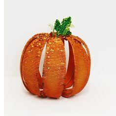 "7.75"" Tin Stripe Table Pumpkin $12.74"