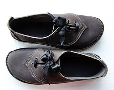 UK 5, Handmade Womens Leather Fairytale Shoes, Binky Shoes 2794 in Thunder grey