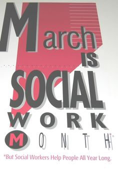 March is Social Work Month