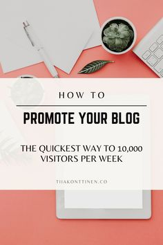 How To Promote Your Blog: The Quickest Way to 10,000 Visitors Per Week | Tiia Konttinen | These are great questions, and ones that I have struggled with in the past. To help you avoid some of the same mistakes I made, I'd like to discuss how to promote your blog. Specifically, I will be outlining the quickest way to 10,000 visitors per week. Make Money Blogging, How To Make Money, How To Get, Blogging For Beginners, How To Start A Blog, Promotion, About Me Blog, Reading, Tips